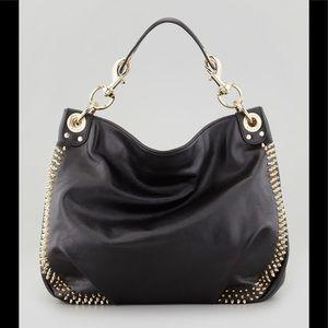 Rebecca Minkoff Luscious Black Leather Studs EUC